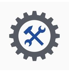 cogwheel spanner and hammer vector 10449637