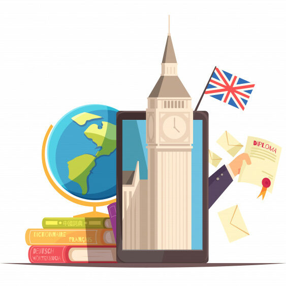 language-center-online-communication-courses-flat-advertising-composition-with-flag-diploma-tablet-big-ben-dictionaries_1284-32184